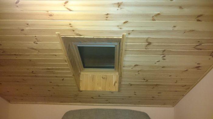 Tetőablak beépítve